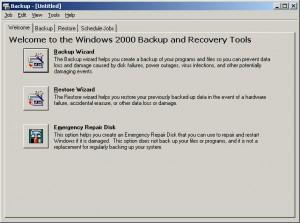 backup tool dialog
