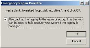 Emergency Repair Disk
